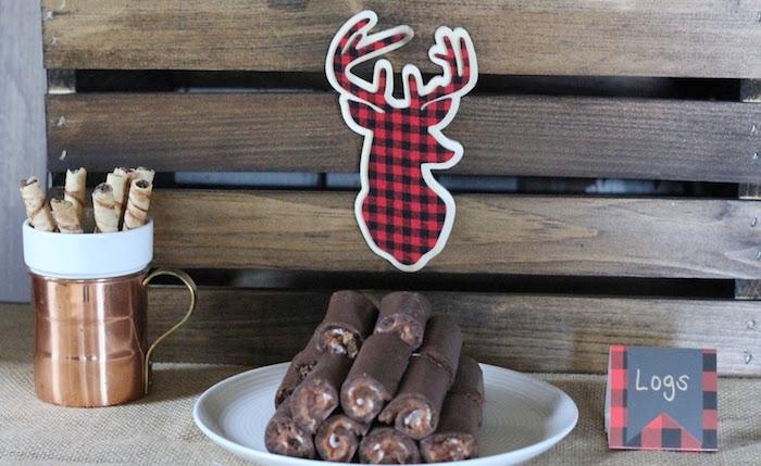 Chocolate Log Rolls from a Lumberjack Birthday Bash on Kara's Party Ideas | KarasPartyIdeas.com (11)