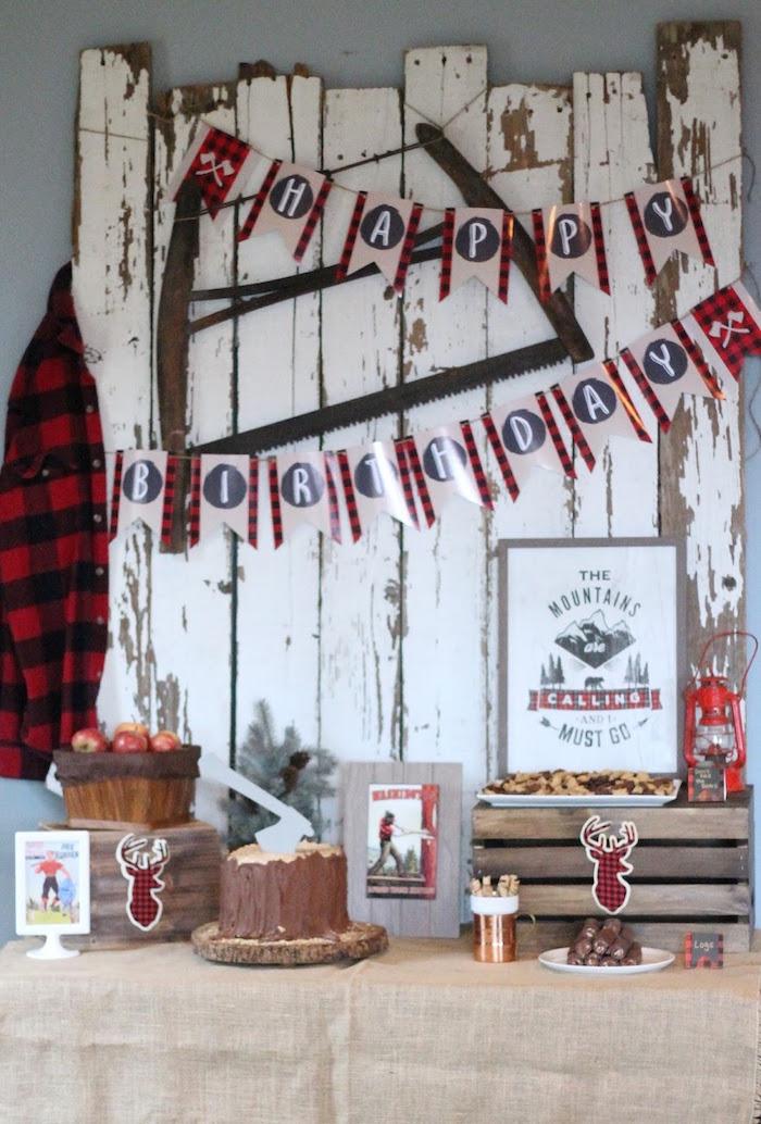 Lumberjack Birthday Bash on Kara's Party Ideas | KarasPartyIdeas.com (32)