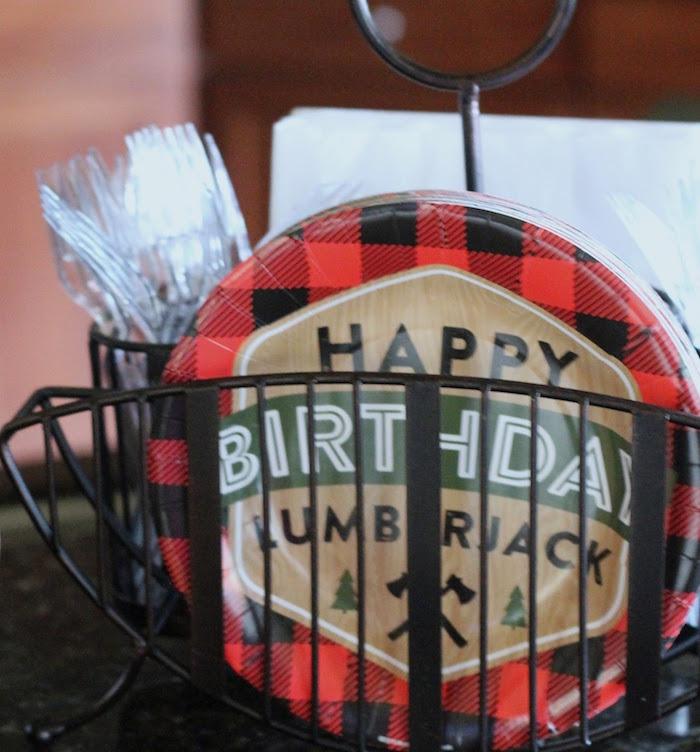 Lumberjack Plates from a Lumberjack Birthday Bash on Kara's Party Ideas | KarasPartyIdeas.com (27)