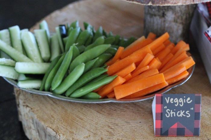 "Veggie ""Sticks"" from a Lumberjack Birthday Bash on Kara's Party Ideas | KarasPartyIdeas.com (26)"