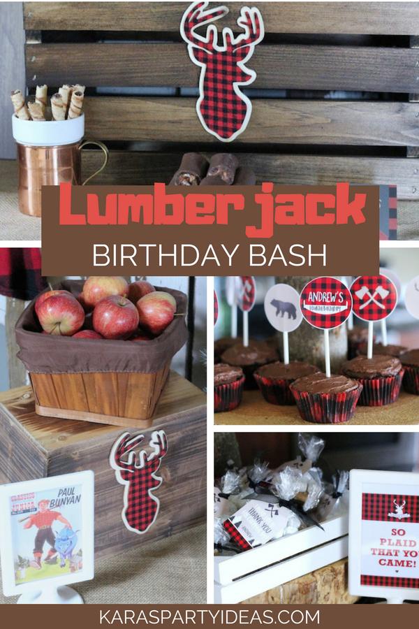 Lumberjack Birthday Bash via KarasPartyIdeas - KarasPartyIdeas.com