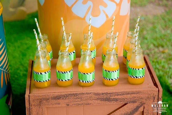 Jungle Drink Bottles from a Madagascar Inspired Safari Party on Kara's Party Ideas | KarasPartyIdeas.com (14)