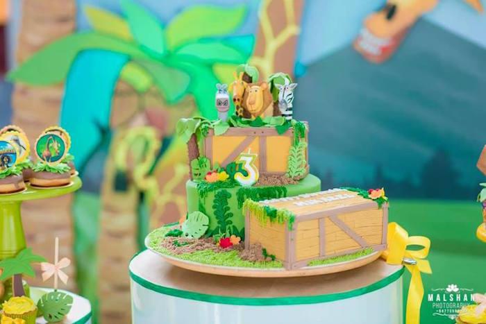 Madagascar Cake from a Madagascar Inspired Safari Party on Kara's Party Ideas | KarasPartyIdeas.com (13)
