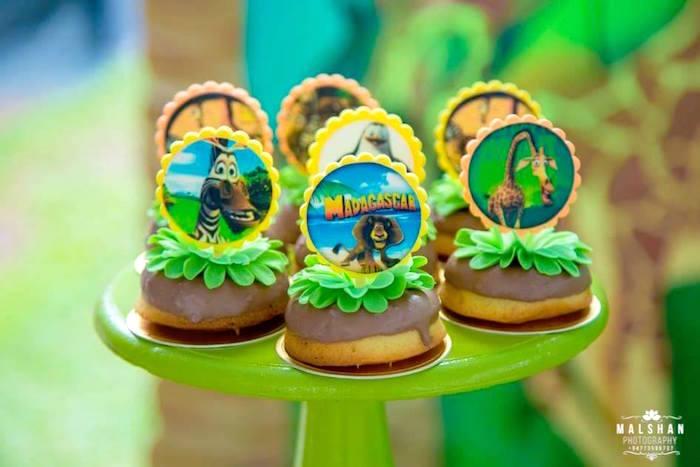 Jungle Doughnuts from a Madagascar Inspired Safari Party on Kara's Party Ideas | KarasPartyIdeas.com (12)