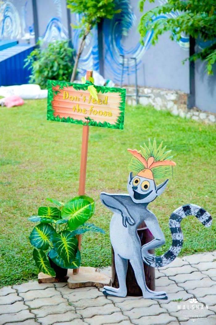 Madagascar Party Signage from a Madagascar Inspired Safari Party on Kara's Party Ideas | KarasPartyIdeas.com (11)