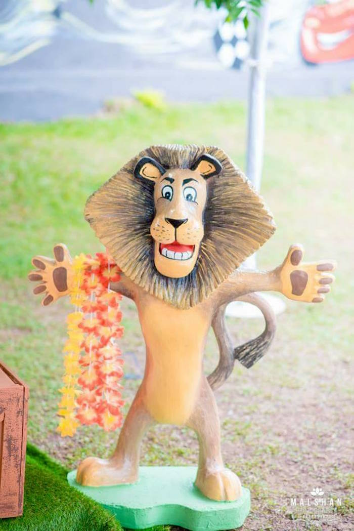 Alex the Lion from a Madagascar Inspired Safari Party on Kara's Party Ideas | KarasPartyIdeas.com (9)