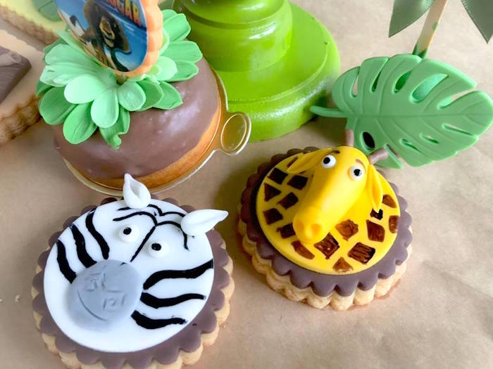 Madagascar Character Cookies from a Madagascar Inspired Safari Party on Kara's Party Ideas | KarasPartyIdeas.com (7)