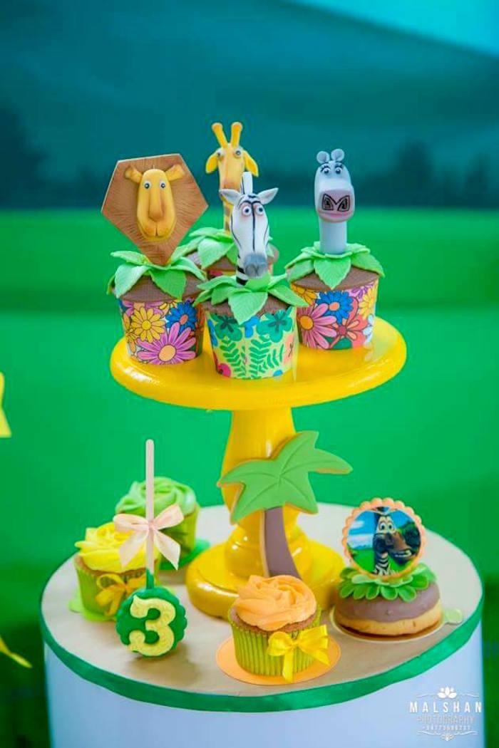 Madagascar Cupcakes from a Madagascar Inspired Safari Party on Kara's Party Ideas | KarasPartyIdeas.com (5)