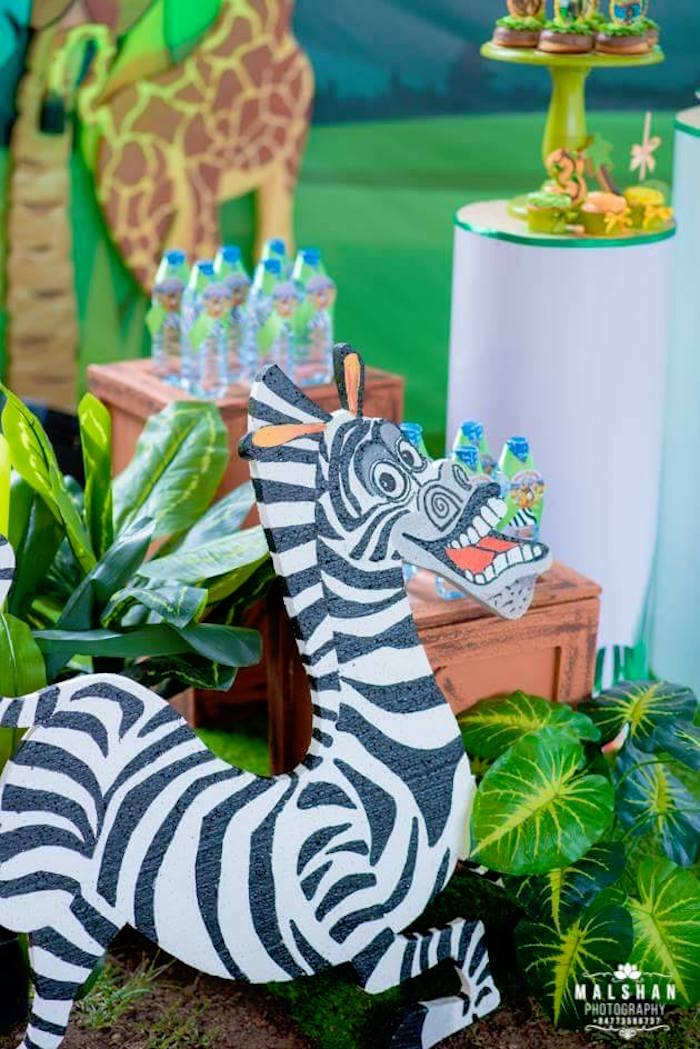 Marty the Zebra from a Madagascar Inspired Safari Party on Kara's Party Ideas | KarasPartyIdeas.com (4)