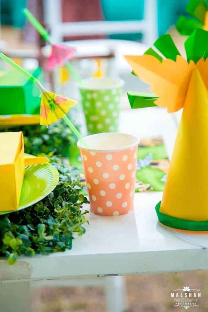 Polkadot Cup from a Madagascar Inspired Safari Party on Kara's Party Ideas | KarasPartyIdeas.com (2)