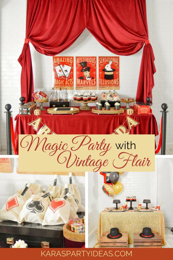 Magic Party with Vintage Flair via KarasPartyIdeas - KarasPartyIdeas.com