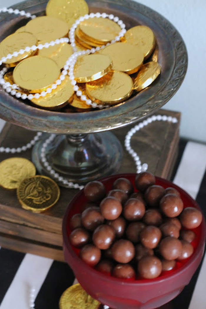 Gold Coins & Cannon Balls from a Mickey Mouse Pirate Party via Kara's Party Ideas | KarasPartyIdeas.com (17)