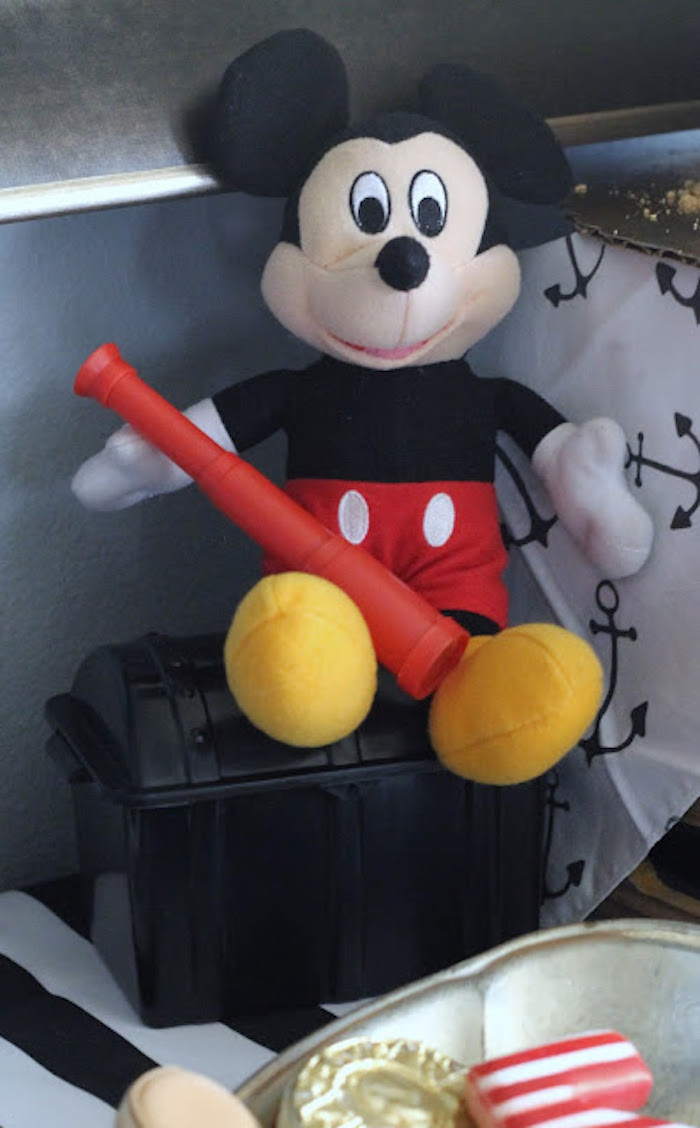 Plush Mickey Mouse from a Mickey Mouse Pirate Party via Kara's Party Ideas | KarasPartyIdeas.com (16)