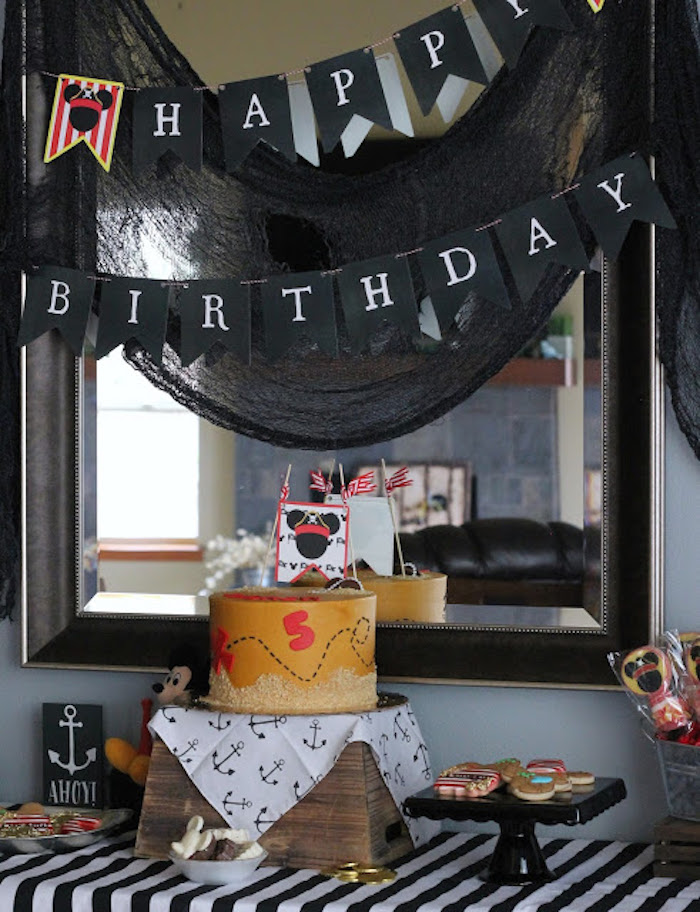 Mickey Mouse Pirate Party via Kara's Party Ideas | KarasPartyIdeas.com (14)