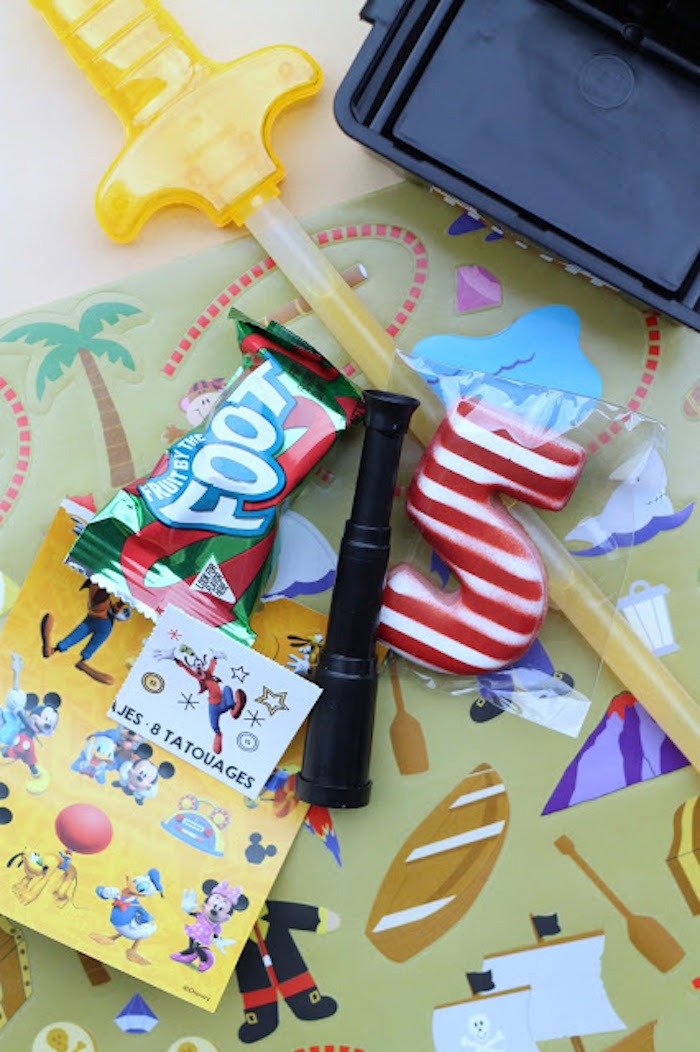 Treasure Chest Favor Box from a Mickey Mouse Pirate Party via Kara's Party Ideas | KarasPartyIdeas.com (9)