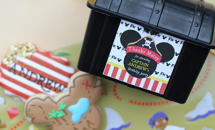 Treasure Chest Favor Box from a Mickey Mouse Pirate Party via Kara's Party Ideas | KarasPartyIdeas.com (8)