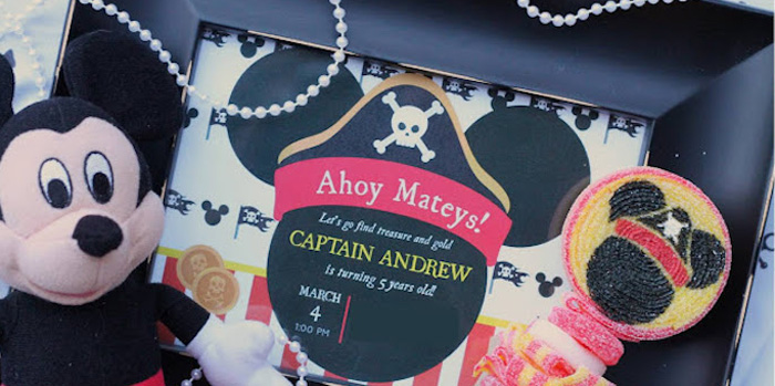 Mickey Mouse Pirate Party via Kara's Party Ideas | KarasPartyIdeas.com (1)