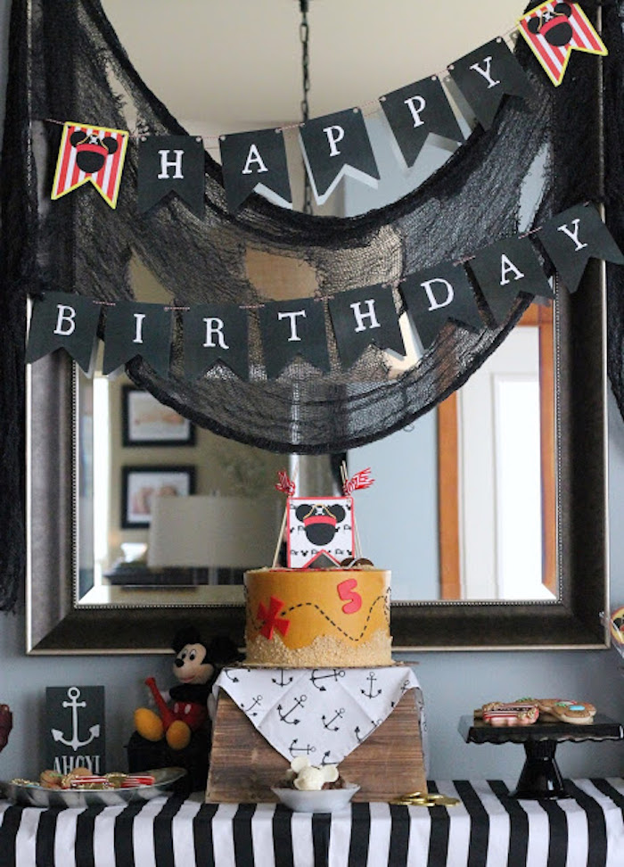 Mickey Mouse Pirate Party via Kara's Party Ideas | KarasPartyIdeas.com (25)