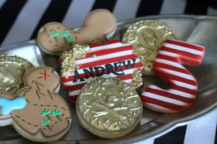 Pirate Themed Cookies from a Mickey Mouse Pirate Party via Kara's Party Ideas | KarasPartyIdeas.com (23)