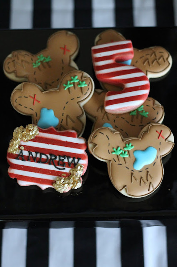 Pirate Themed Cookies from a Mickey Mouse Pirate Party via Kara's Party Ideas | KarasPartyIdeas.com (20)