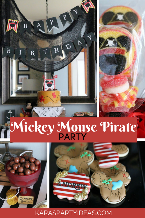 Mickey Mouse Pirate Party via KarasPartyIdeas - KarasPartyIdeas.com