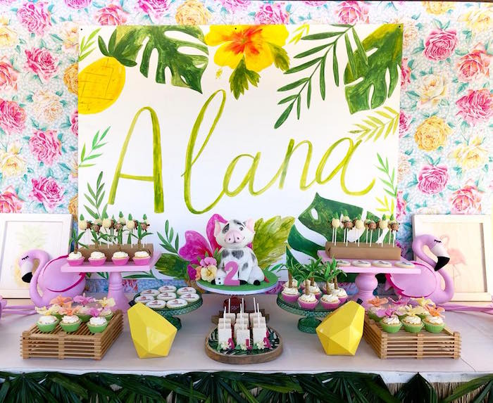 Moana Birthday Party Luau on Kara's Party Ideas | KarasPartyIdeas.com (4)