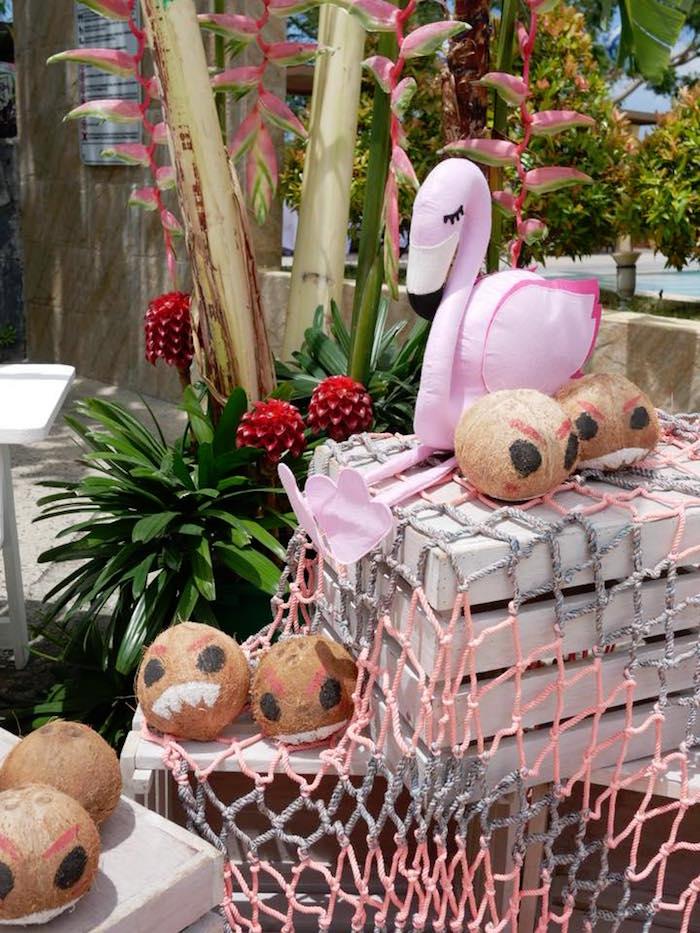 Kakamora Coconuts from a Moana Birthday Party Luau on Kara's Party Ideas | KarasPartyIdeas.com (16)