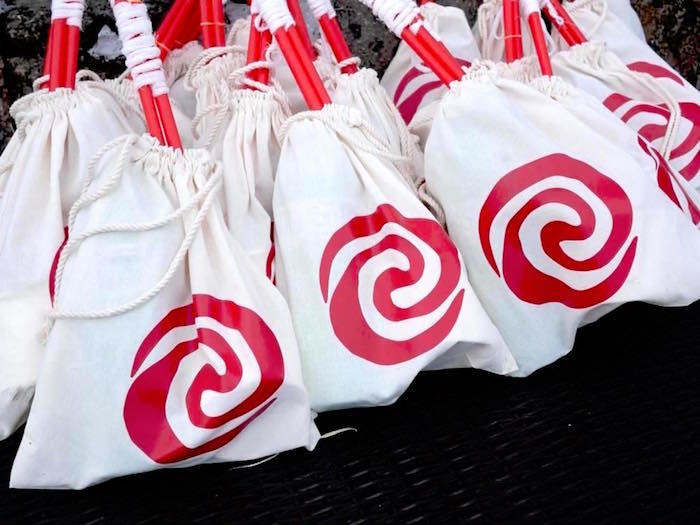 Heart of Te Fiti Favor Sacks from a Moana Birthday Party Luau on Kara's Party Ideas | KarasPartyIdeas.com (15)