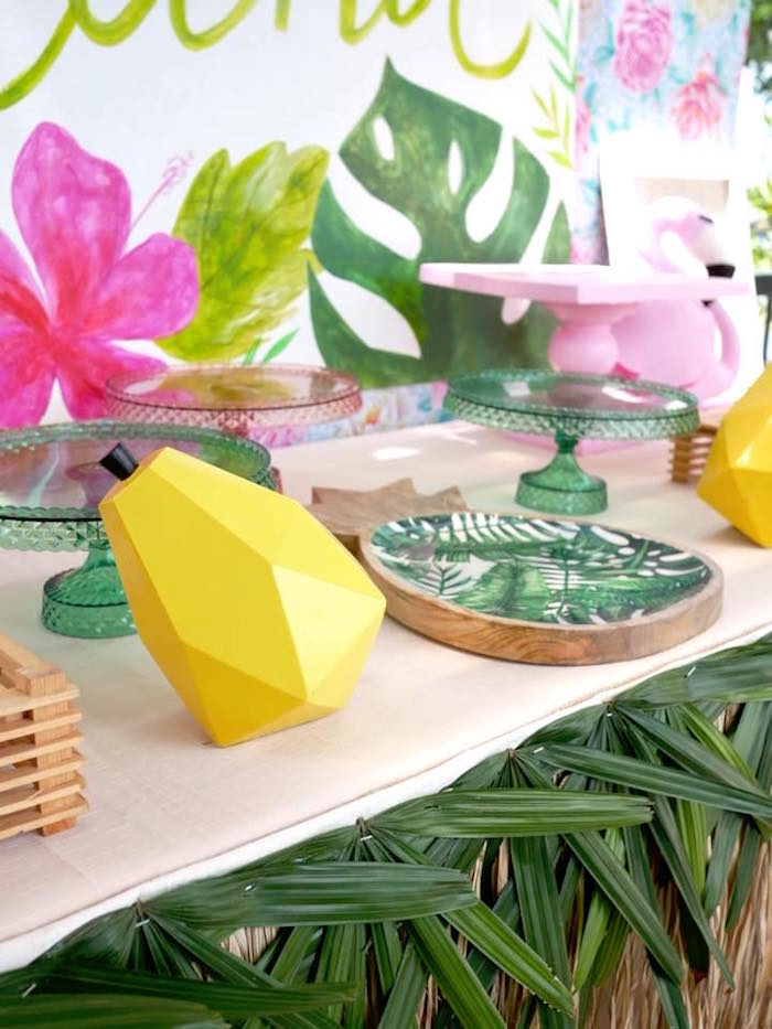 Tropical Decor from a Moana Birthday Party Luau on Kara's Party Ideas | KarasPartyIdeas.com (12)