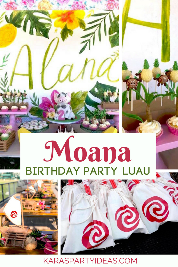 Moana Birthday Party Luau Via KarasPartyIdeas