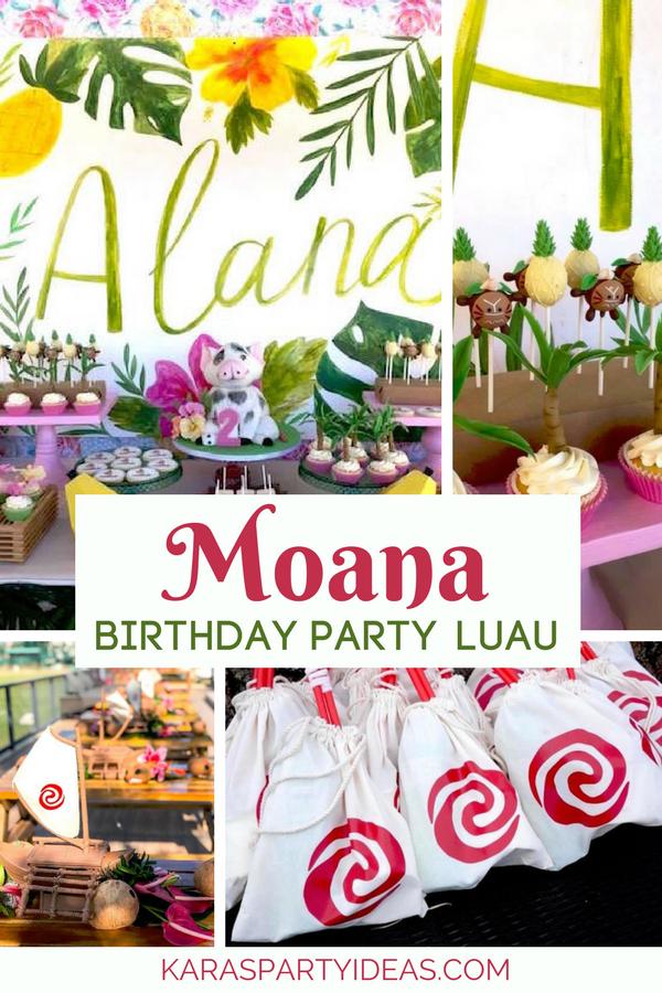 Moana Birthday Party Luau via KarasPartyIdeas - KarasPartyIdeas.com