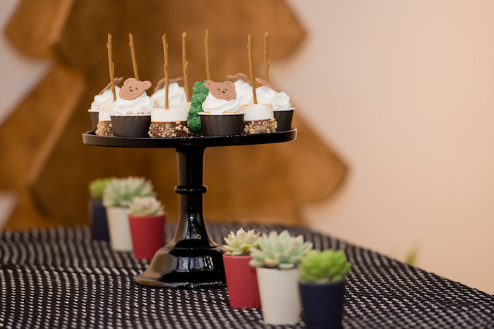 Party Table + Cupcakes from a Modern Rustic Camping Birthday Party on Kara's Party Ideas | KarasPartyIdeas.com (29)