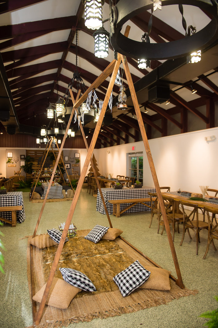 Modern Rustic Camping Birthday Party on Kara's Party Ideas | KarasPartyIdeas.com (47)