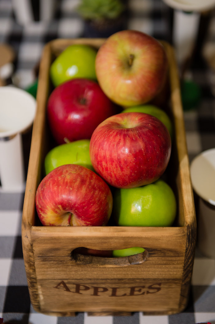 Apple Crate Centerpiece from a Modern Rustic Camping Birthday Party on Kara's Party Ideas | KarasPartyIdeas.com (26)