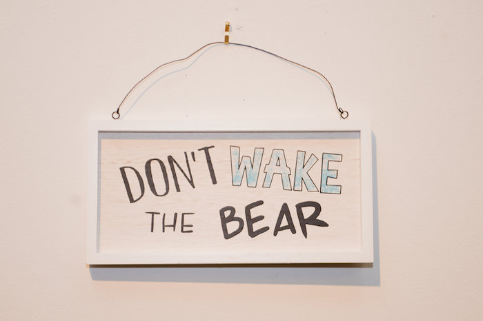 Don't Wake The Bear Sign from a Modern Rustic Camping Birthday Party on Kara's Party Ideas | KarasPartyIdeas.com (25)
