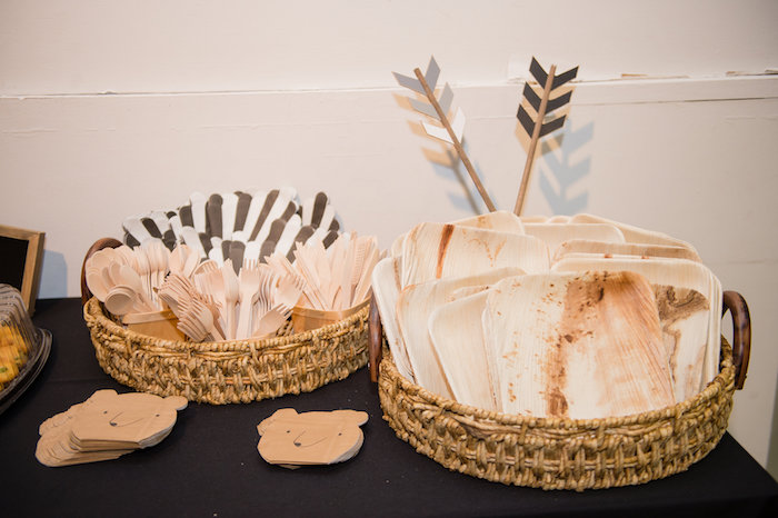 Rustic Partyware from a Modern Rustic Camping Birthday Party on Kara's Party Ideas | KarasPartyIdeas.com (24)