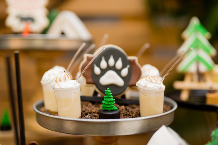 Dessert Shooters from a Modern Rustic Camping Birthday Party on Kara's Party Ideas | KarasPartyIdeas.com (16)