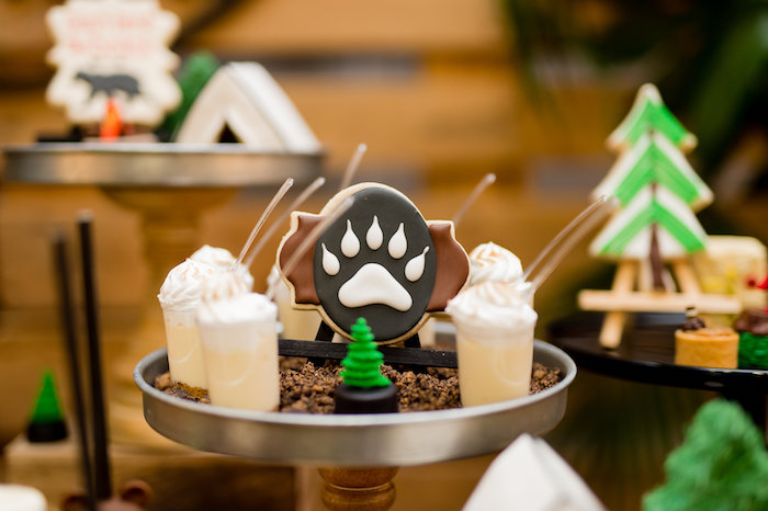 Bear Claw Sugar Cookie from a Modern Rustic Camping Birthday Party on Kara's Party Ideas | KarasPartyIdeas.com (15)