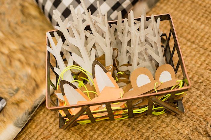 Animal Headbands from a Modern Rustic Camping Birthday Party on Kara's Party Ideas | KarasPartyIdeas.com (13)