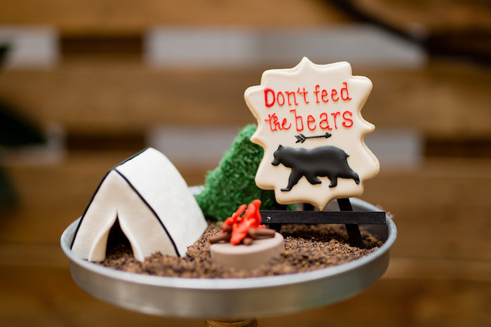 Campground Camping Desserts from a Modern Rustic Camping Birthday Party on Kara's Party Ideas | KarasPartyIdeas.com (10)