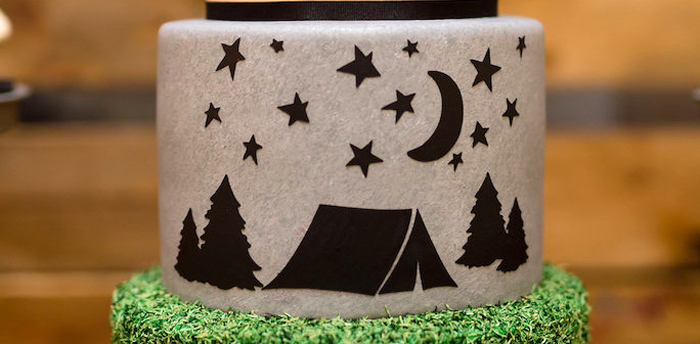 Modern Rustic Camping Birthday Party on Kara's Party Ideas | KarasPartyIdeas.com (4)