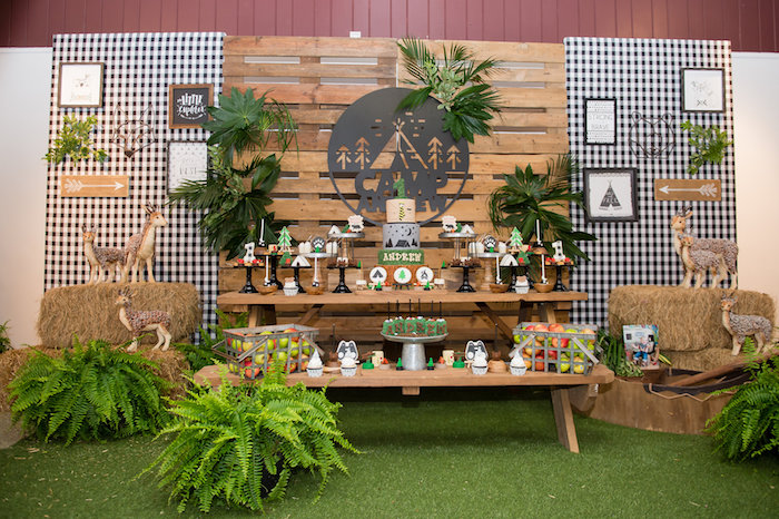 Modern Rustic Camping Birthday Party on Kara's Party Ideas | KarasPartyIdeas.com (44)