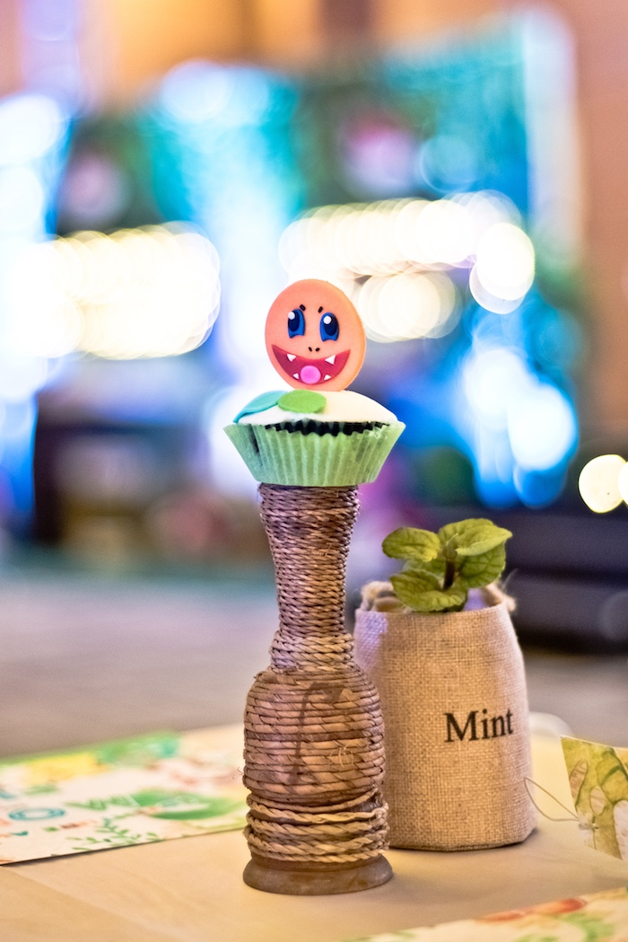 Pokemon Cupcake Centerpiece from a Modern Safari Pokemon Party on Kara's Party Ideas | KarasPartyIdeas.com (20)