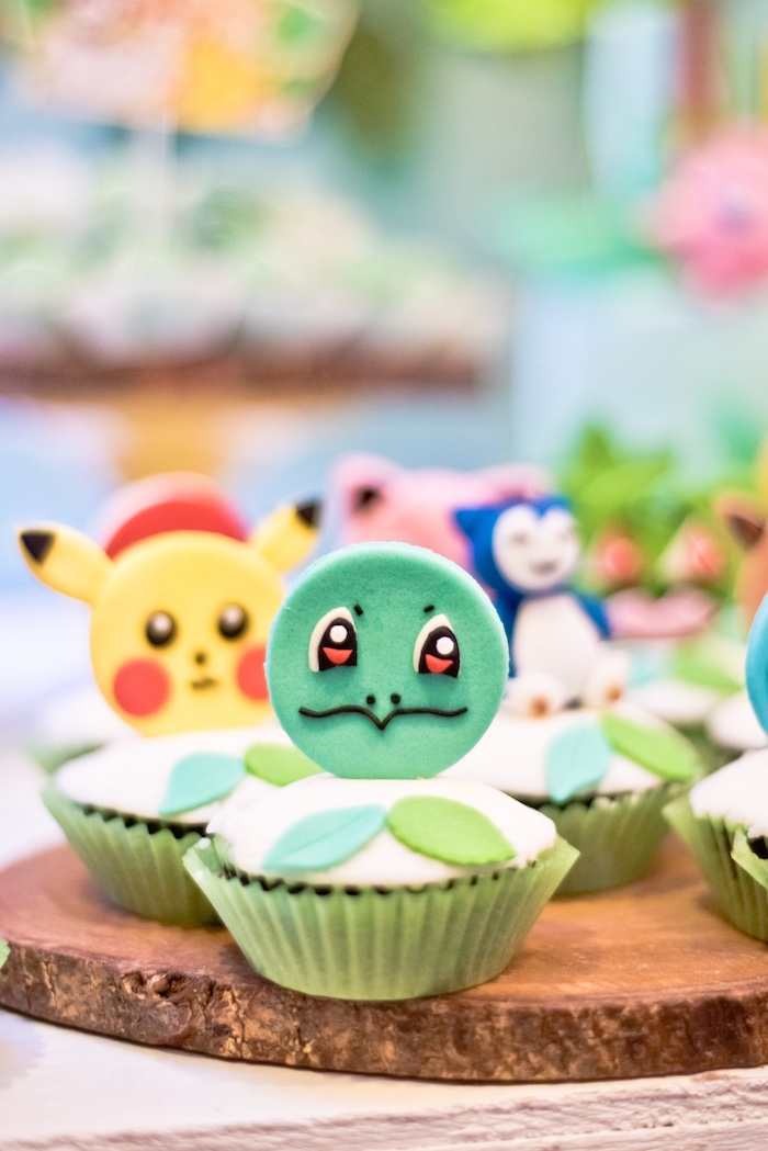 Pokemon Cupcakes from a Modern Safari Pokemon Party on Kara's Party Ideas | KarasPartyIdeas.com (17)