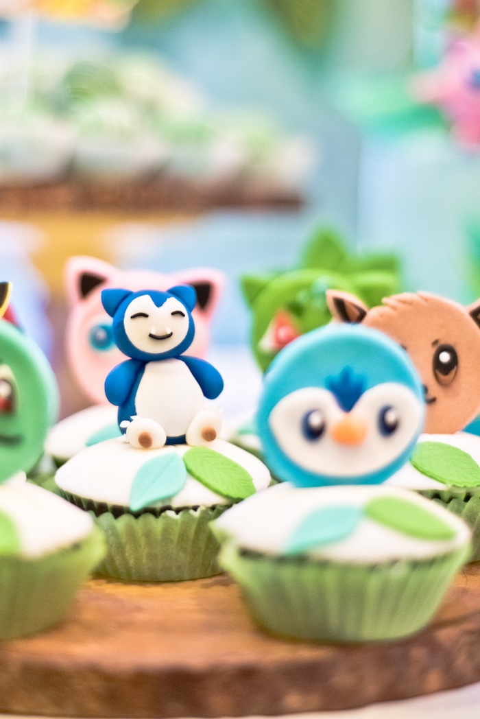 Pokemon Cupcakes from a Modern Safari Pokemon Party on Kara's Party Ideas | KarasPartyIdeas.com (16)