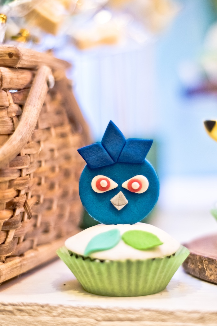 Pokemon Cupcake from a Modern Safari Pokemon Party on Kara's Party Ideas | KarasPartyIdeas.com (15)