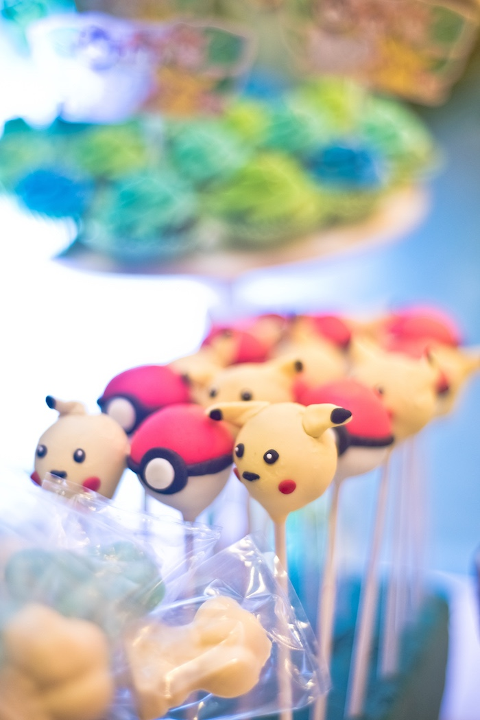 Pokemon Cake Pops from a Modern Safari Pokemon Party on Kara's Party Ideas | KarasPartyIdeas.com (11)