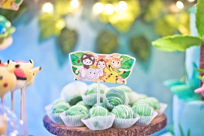 Jungle Truffles from a Modern Safari Pokemon Party on Kara's Party Ideas | KarasPartyIdeas.com (10)