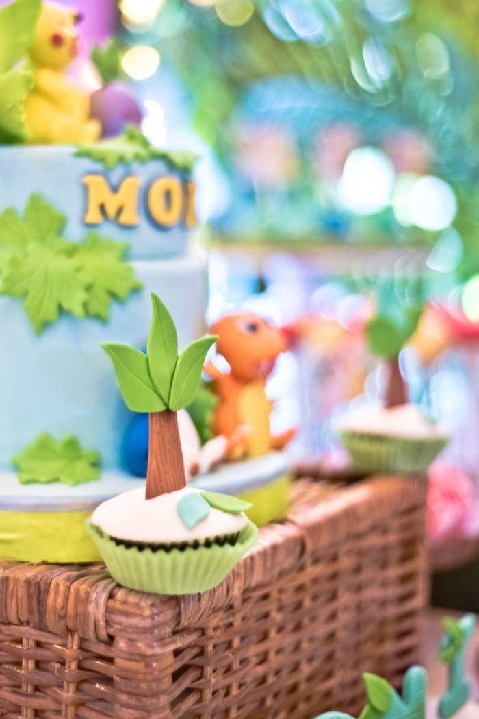 Jungle Tree Cupcake from a Modern Safari Pokemon Party on Kara's Party Ideas | KarasPartyIdeas.com (8)