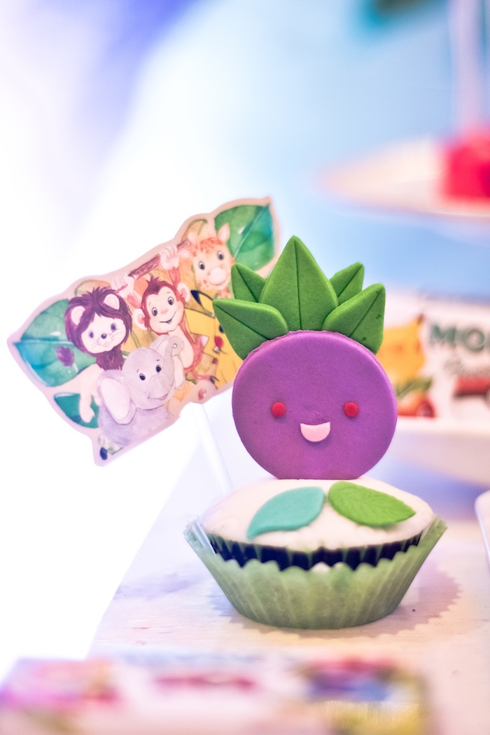 Pokemon Cupcake from a Modern Safari Pokemon Party on Kara's Party Ideas | KarasPartyIdeas.com (7)